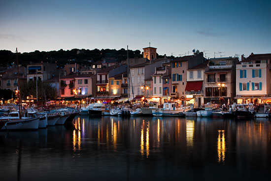 Cassis at dusk