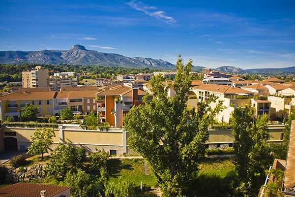 City centre of Aubagne, near Marseille, France