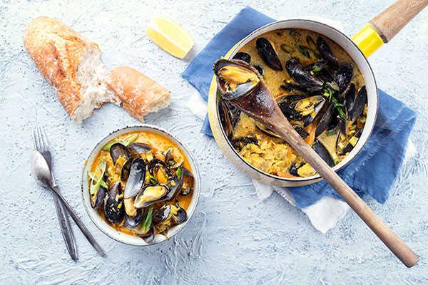Regional dish - Mussel Bouillabaisse