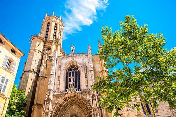 Saint Sauveur gothic cathedral in Aix-en-Provence in France