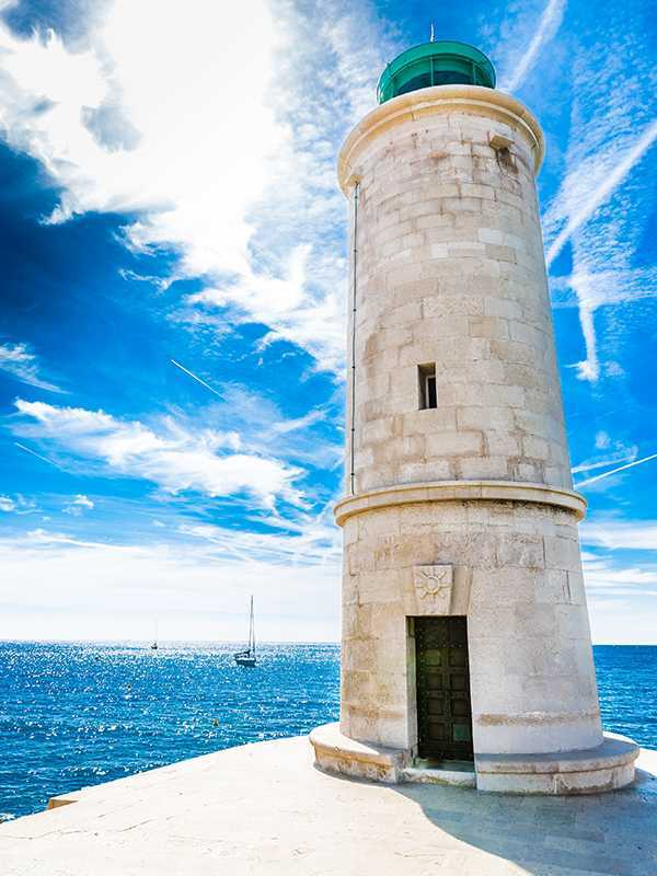 View Of The Beautiful Lighthouse During Sunny Day - Cassis,France